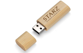 2GB Bamboo Custom USB Drives