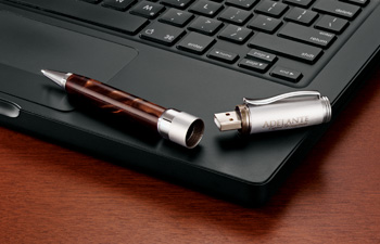 Custom pen with USB drive